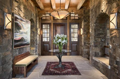Montana Home Door Custom Interior Design Carol Sisson