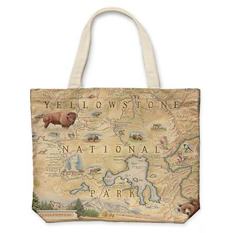 Yellowstone Canvas Tote Bag