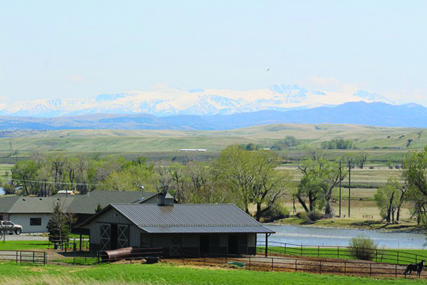 Breathtaking views of the Yellowstone River and several mountain ranges.  $1.65M.