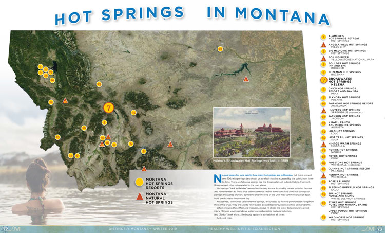 Hot Springs map of Montana