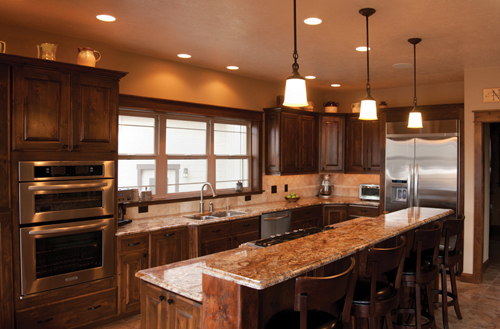 Montana home interior kitchen designs distinctly for Cool kitchen remodel ideas
