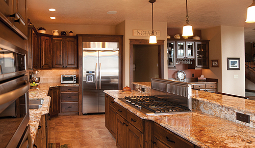 Montana home interior kitchen designs distinctly for Neat kitchen ideas
