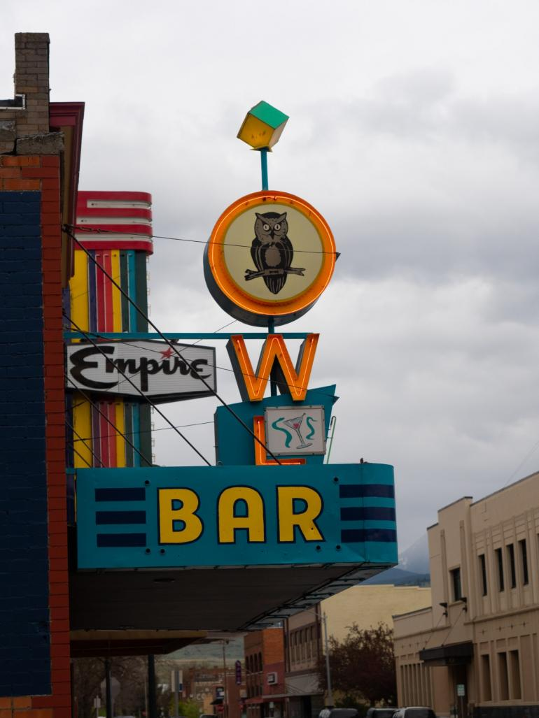 The Owl Bar and Empire Theater in Livingston, MT