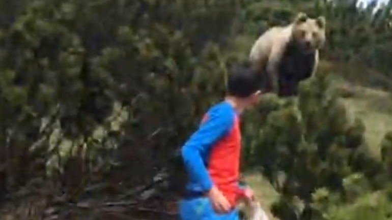 12-year-old stalked by gigantic grizzly bear