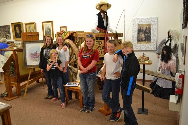 Bynum School Class Visits Central MT Museum Metis Exhibit