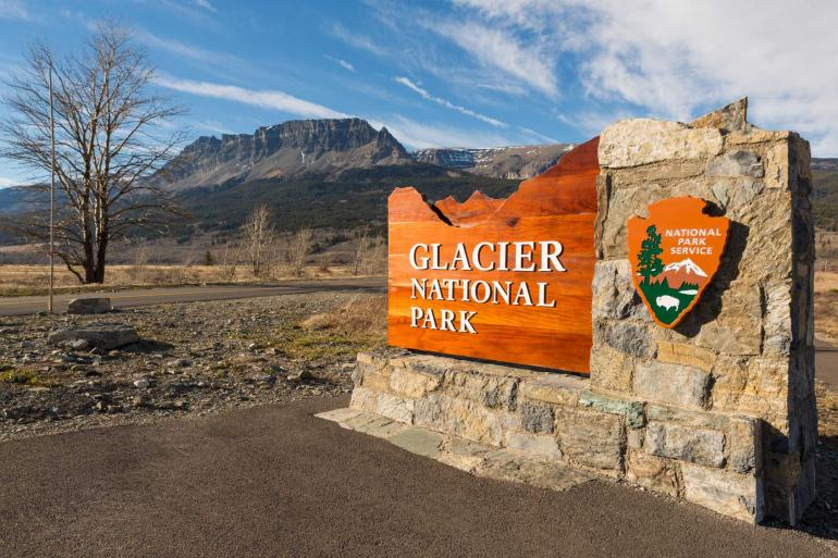 Glacier National Park Entrance Sign