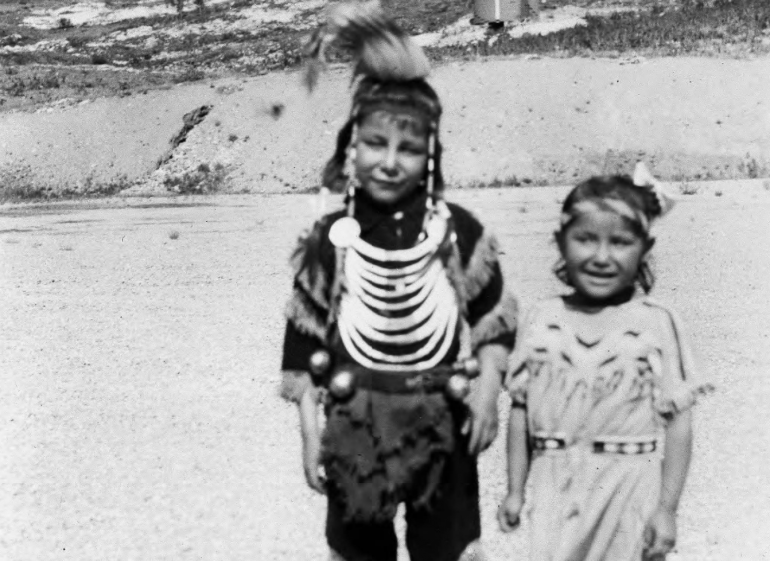 Joe and Eva Mae Butterfly of the Blackfeet Tribe near Glacier National Park circa 1930-1940.