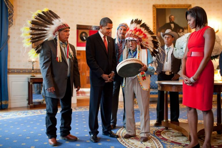 Medicine Crow at the White House