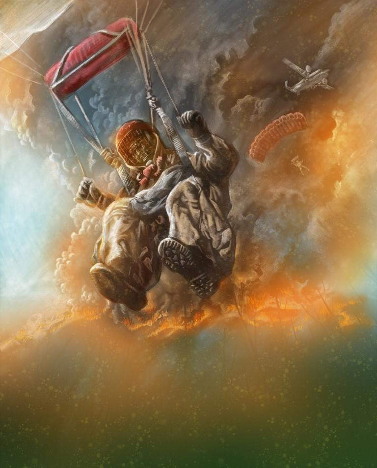 Smoke Jumper Illustration