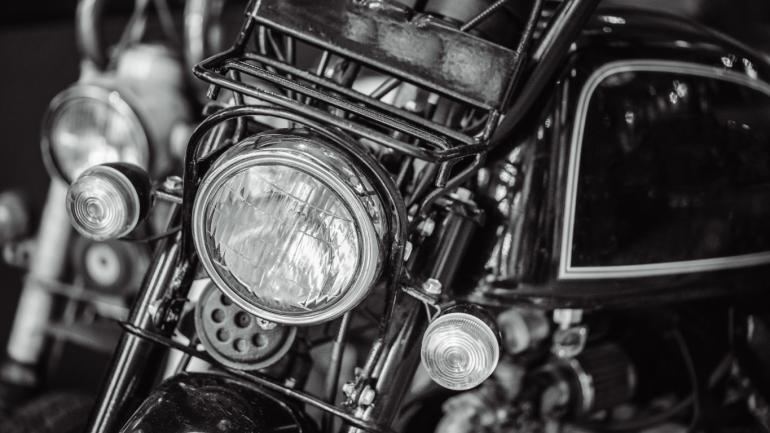 Vintage motorcycle headlight