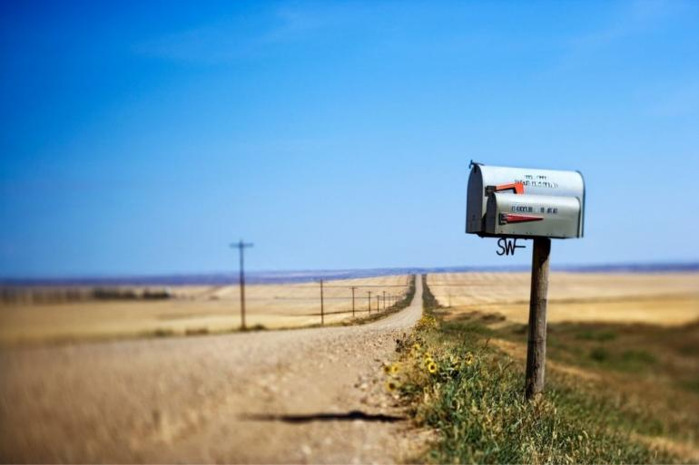 Mailbox on Montana road