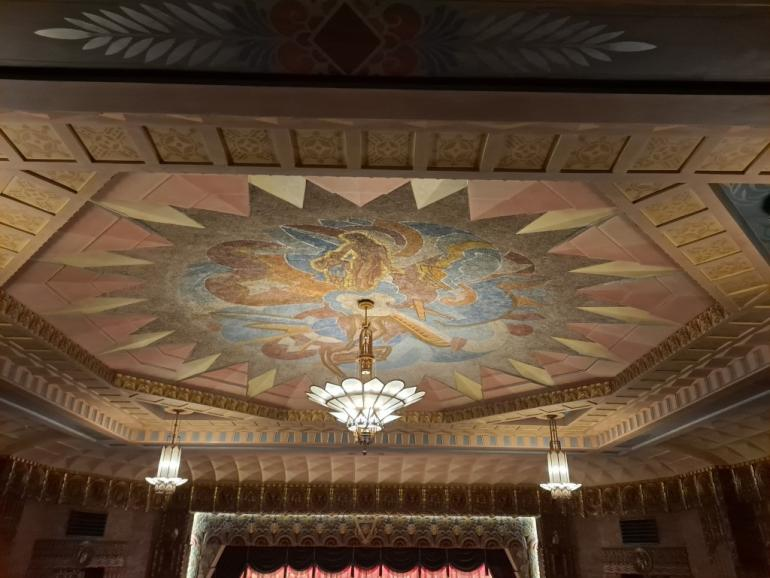 Ceiling Mural, Washoe Theater