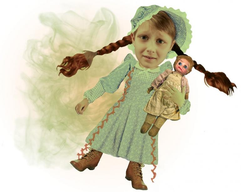 Smelly child with doll