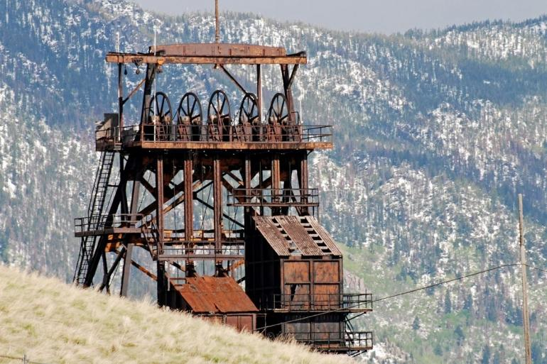 Rusted headframe, Butte
