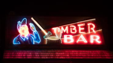 Timber Bar Sign, Big Timber