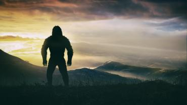 Bigfoot at Sunset