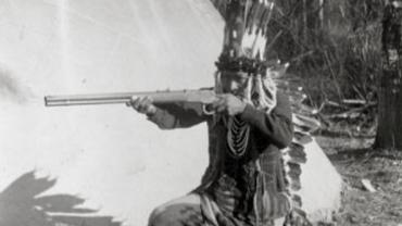 Pend'Orielle man with rifle