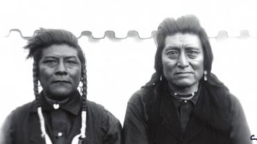Portrait of Two Crow Men