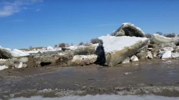 Ice floes on the Yellowstone