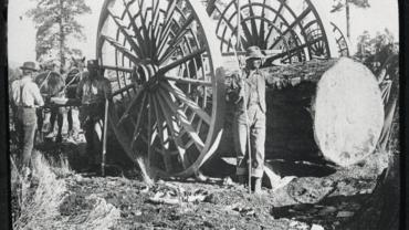 Big Wheel used in logging