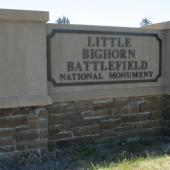 Little Bighorn National Monument - Entrance Gate
